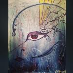 Eye of the Storm - Live painting at Studio Bongiorno for Sage and the Chemists CD release party