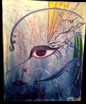 Eye Of The Storm - Acrylic painting completed live at Studio Bongiorno event.