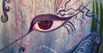 Eye Of The Storm (Detail) - Acrylic painting completed live at Studio Bongiorno event.